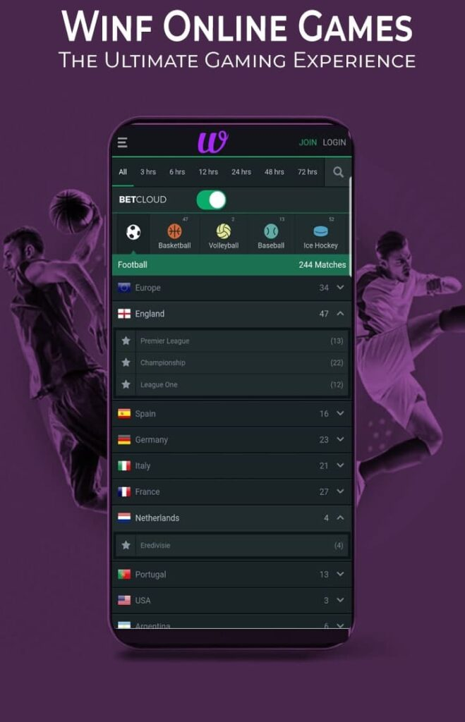winf bet: online sports betting live odds